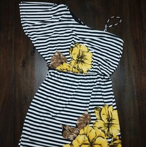 Floral and Striped Dress  size Large